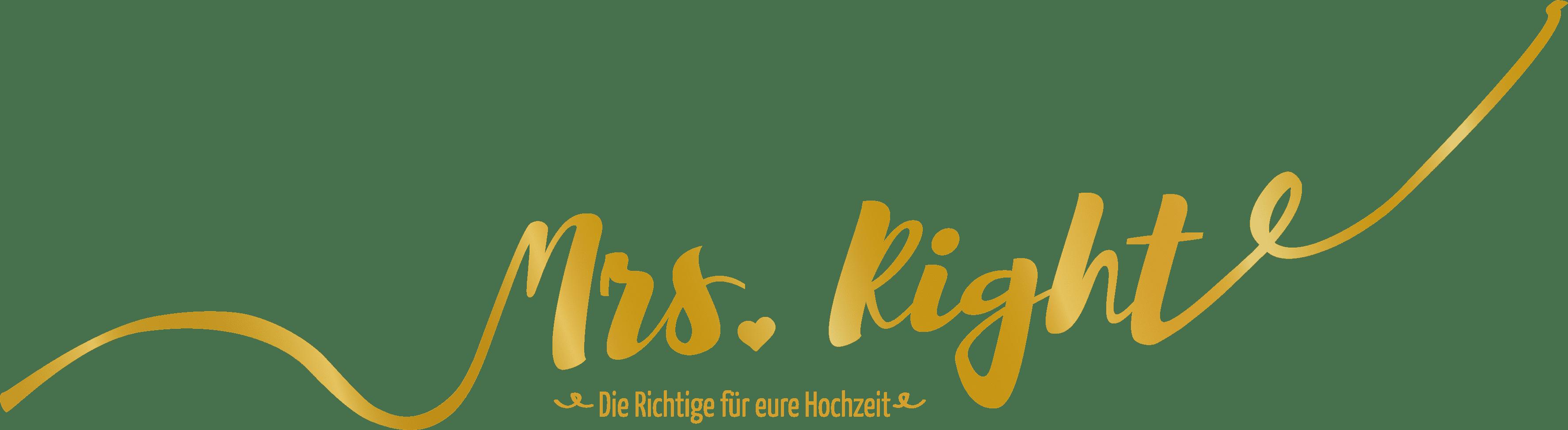 Logo Mrs. Right München Hochzeitplaner