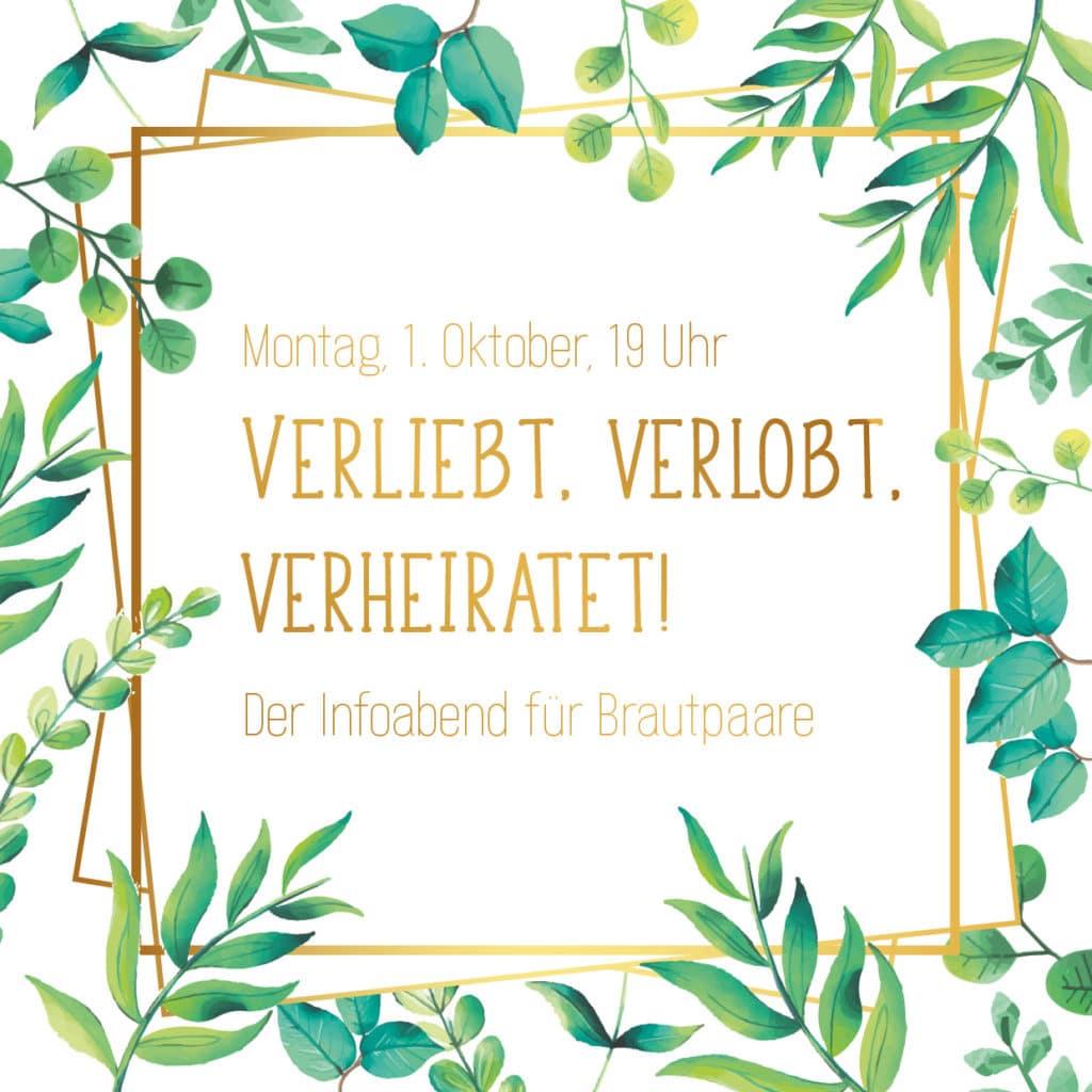 Infoabend für Brautpaare Hochzeit Hochzeitsplanung Mrs Right München Heiraten