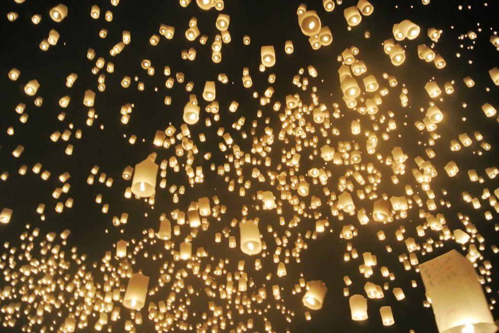 Himmelslaterne Hochzeit Hochzeitsplanung Luftballons Tauben Schmetterlinge