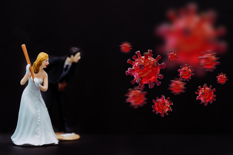 Hochzeit Corona Brautpaar